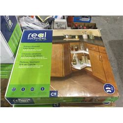 Real Solutions Kidney Shaped Lazy Susan
