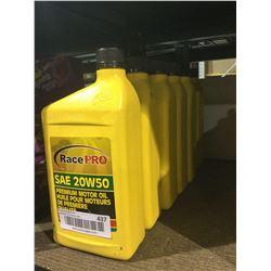 Race Pro SAE 20W50 Premium Motor Oil (6x 946mL)