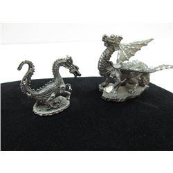 2 Pewter Dragons