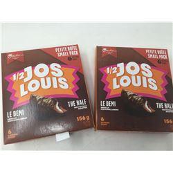 Lot of 1/2 Jos Louis Snacks (2 x 6)