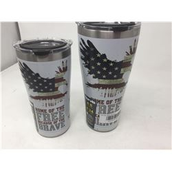 Lot of 2 Insulated Travel Cups
