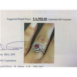 Natural Ruby (1.06ct) Ring - Suggested Retail Price $6,900.00