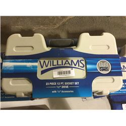 "NEW Williams 23 Piece 12PT. Socket Set 1/2"" Drive"