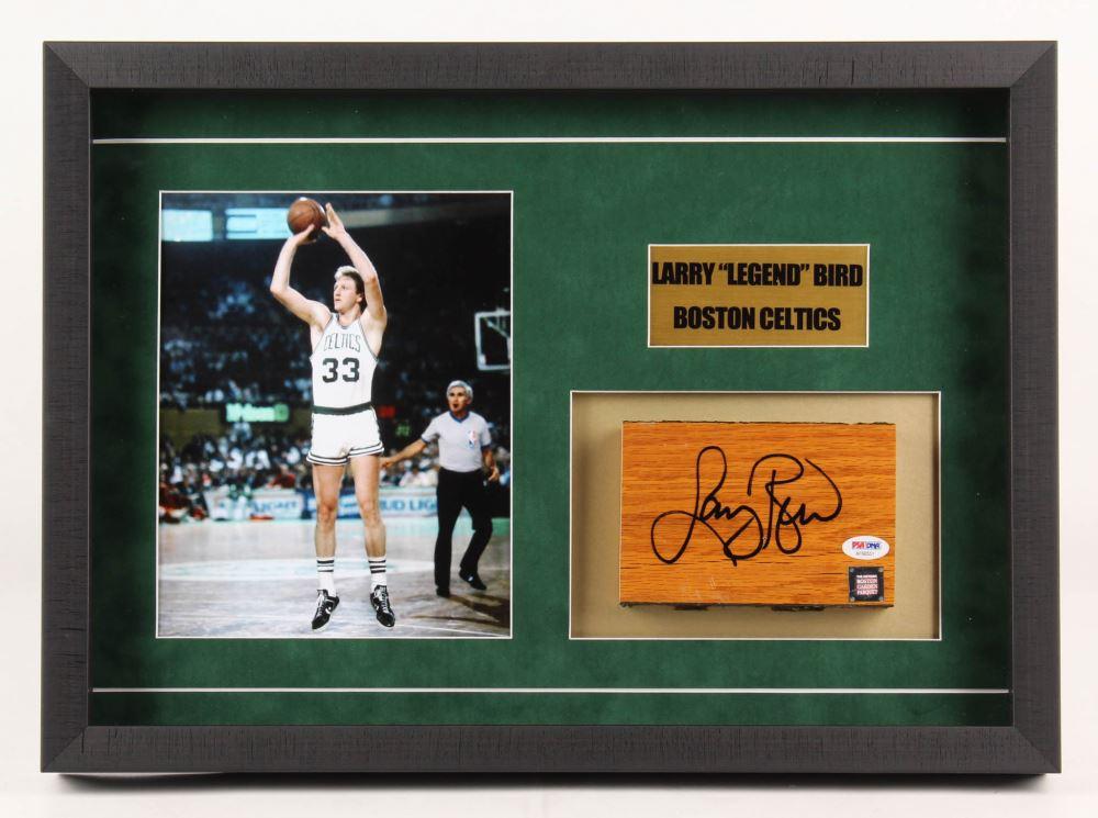 Larry Bird Signed Boston Celtics Boston Garden Parquet Floor