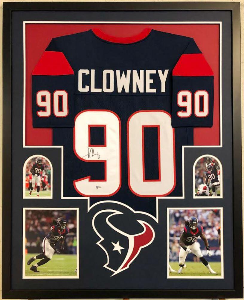 Jadeveon Clowney Signed Houston Texans 34x42 Custom Framed ...