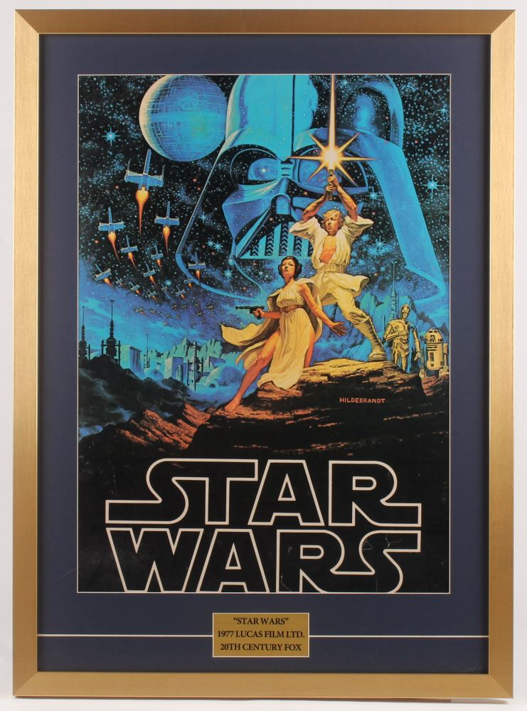 1977 Vintage Star Wars Episode Iv A New Hope 24x33 Custom Framed Movie Poster