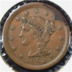 1852 LARGE CENT, XF