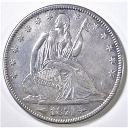 1874 ARROWS SEATED LIBERTY HALF DOLLAR AU/BU