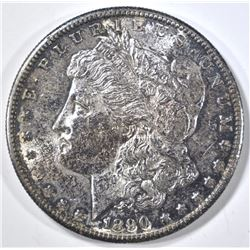 1890-S MORGAN DOLLAR BU OLD ALBUM TONE