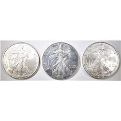 2002, 05 &  06  AMERICAN SILVER EAGLES
