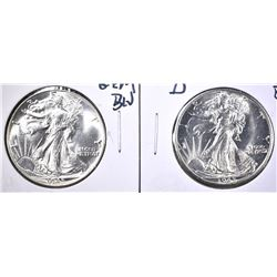 1945 & 45-D GEM BU WALKING LIBERTY HALF DOLLARS