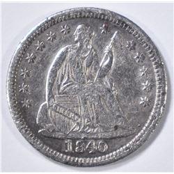 1840 SEATED LIBERTY HALF DIME  XF/AU