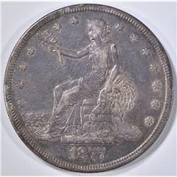 1877-S TRADE DOLLAR  XF/AU