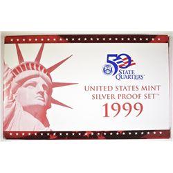 1999 US MINT SILVER PROOF SET W/ COA