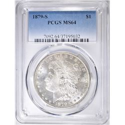 1879-S MORGAN DOLLAR  PCGS MS-64