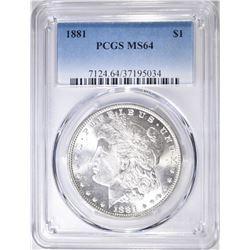 1881 MORGAN DOLLAR  PCGS MS-64