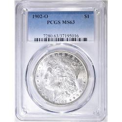 1902-O MORGAN DOLLAR  PCGS MS-63
