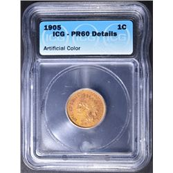 1905 INDIAN HEAD CENT  ICG PR-60 DETAILS