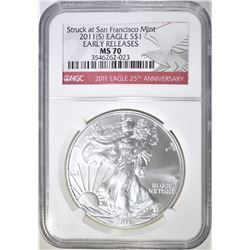 2011-S ASE NGC MS-70 EARLY RELEASES