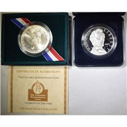 2009 LINCOLN COMMEM SILVER DOLLAR& 1992-D