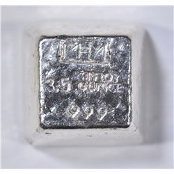 3.5 TROY OZ .999 POURED SILVER CANABIS STAMPED