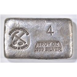 4 TROY OZ .999 SILVER PROSPECTOR BAR