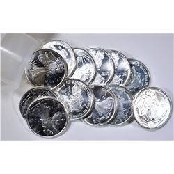 ROLL OF 50 1/10 OZ WALKING LIBERTY SILVER ROUNDS