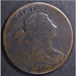 1806 LARGE CENT, GOOD cleaned