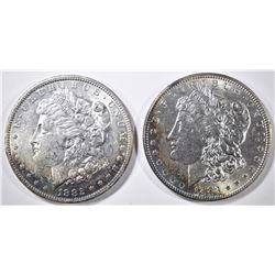1883 & 82-O MORGAN DOLLARS BU