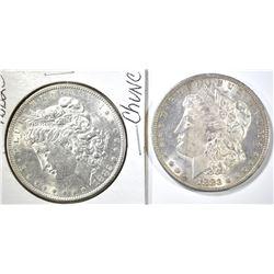 1882-S & 83-O CH BU MORGAN DOLLARS