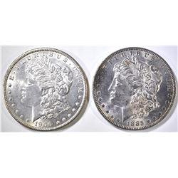 1885-O & 1900 MORGAN DOLLARS CH BU