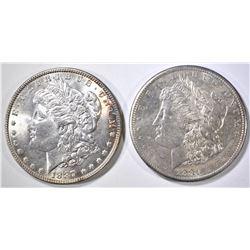 1887 & 81-S MORGAN DOLLARS CH BU
