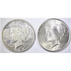 1925 & 1925-S BU PEACE DOLLARS