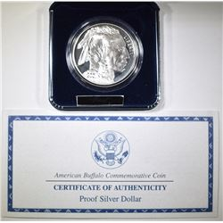 2001 PROOF AMERICAN BUFFALO COMMEM SILVER DOLLAR
