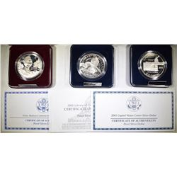 MODERN PROOF COMMEM SILVER DOLLARS