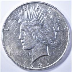 1927-D PEACE DOLLAR  CH AU