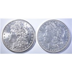 1899-O & 1904-O MORGAN DOLLARS   BU