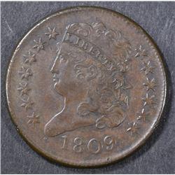 1809 HALF CENT  CH AU