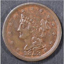 1853 HALF CENT  BU
