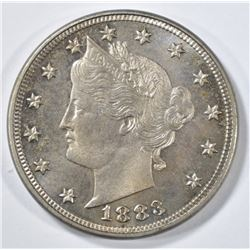 1883 WITH CENTS LIBERTY NICKEL  GEM BU