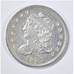1831 BUST HALF DIME  AU/BU
