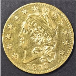 1813 CAPPED BUST $5.00 GOLD  AU/BU