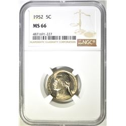 1952 NGC MS 66 JEFFERSON NICKEL