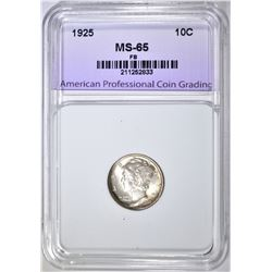 1925 MERCURY DIME, APCG GEM BU FB