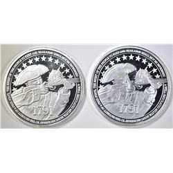 2-2nd AMENDMENT 1oz .999 SILVER ROUNDS