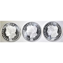3-MORGAN DOLLAR INSPIRED 1oz .999 SILVER ROUNDS