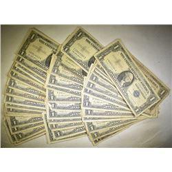 50-CIRC $1.00 SILVER CERTIFICATES
