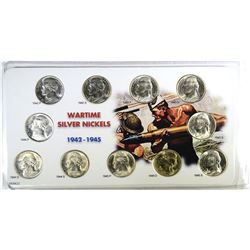 BU SET OF SILVER JEFFERSON  WAR  NICKELS