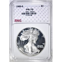 1988-S SILVER EAGLE RNG PERFECT GEM PROOF DCAM