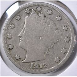 1912-S LIBERTY NICKEL,